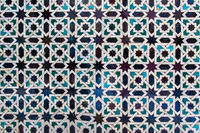 Moorish ceramics with geometric pattern