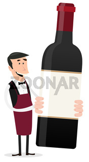 Cartoon French Winemaker