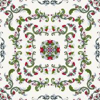 Rosemaling vector pattern 36