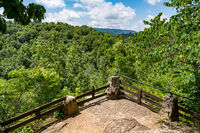 Stone overlook on the trail in Fairfield Glade community in Tennessee