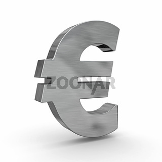 Sign of euro on white isolated background. 3d