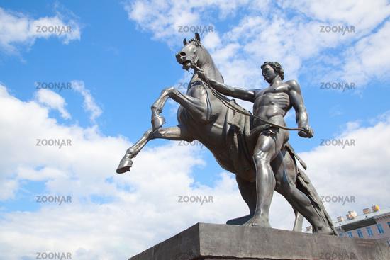 Horse Tamers monument in Saint Petersburg