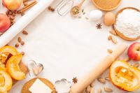 Autumn baking background