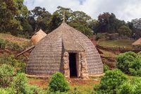 traditional ethiopian houses, Bale Mountain Ethiopia