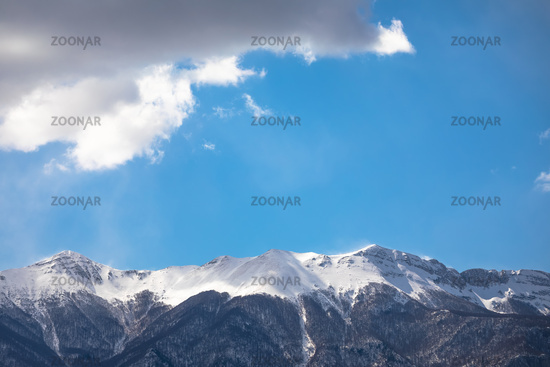 Velebit mountain snowy peaks view