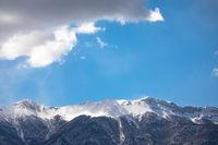 Velebit mountain snowy peaks view
