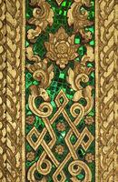 Vergoldeten Schnitzereien und Intarsien aus grünem Glas, Tempel Haw Pha Bang, Luang Prabang, Laos