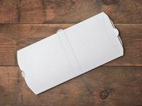White blank new folded donner kebab paper packaging