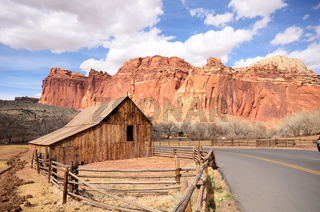 Gifford Farm Barn at Capitol Reef National Park in Utah