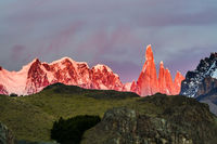 Picturesque mountain range Fitzroy