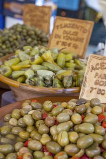 Eingelegte Oliven, Wochenmarkt, Mallorca