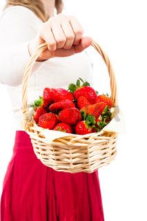 Delicious juicy fresh strawberries