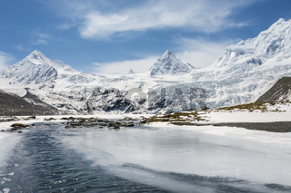 snow mountain and glacial landscape