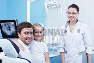 Family doctor in the dental office