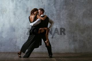 Tango pair dancers. Dance in ballroom