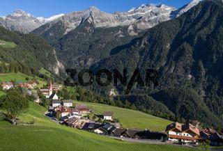 Der Ort Ahornach in Südtirol, Italien