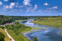 Landscape with Volga river, Russia