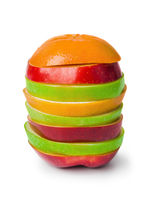 Stack of sliced fruits
