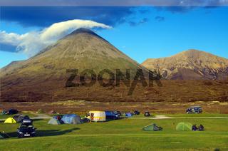 Campingplatz am Fuss deer Cullins