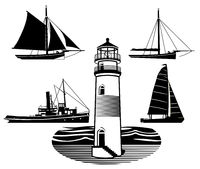 Leuchtturm Schiffe.eps