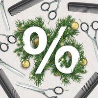 Christmas Percent Scissors Combs Ornaments