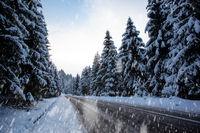 Clear sky always follows the snow storm