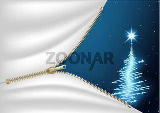 Blue Christmas Composition