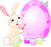 Easter Bunny painting Easter Egg