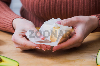 Ecological reusable wrapping for healthy and fresh food