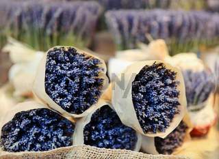 Bunches of lavenders, street market