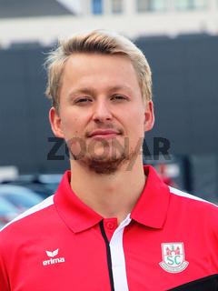 deutscher Schwimmer Rob Muffels SC Magdeburg bei Verabschiedung für Tokio Olympia 2021