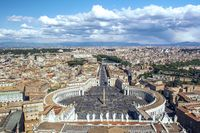 The St. Peter's Square and the St. Peter's Basilica