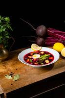 Polish beetroot soup (botwinka)