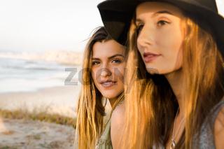 Girls near the beach