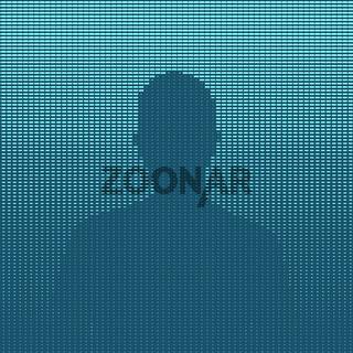 Man silhouette blue illustration