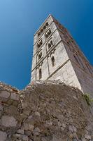 Glockenturm in der Altstadt von Rab in Kroatien