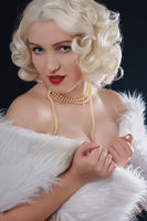 luxury blond woman