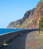Embankment empry promanade Madeira island