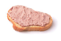 Slice of wheat bread with liver pate