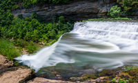 Burgess Falls State Park in Tennessee in summer