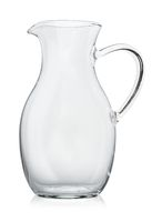 Empty glass decanter