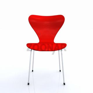 Der rote Designer Stuhl