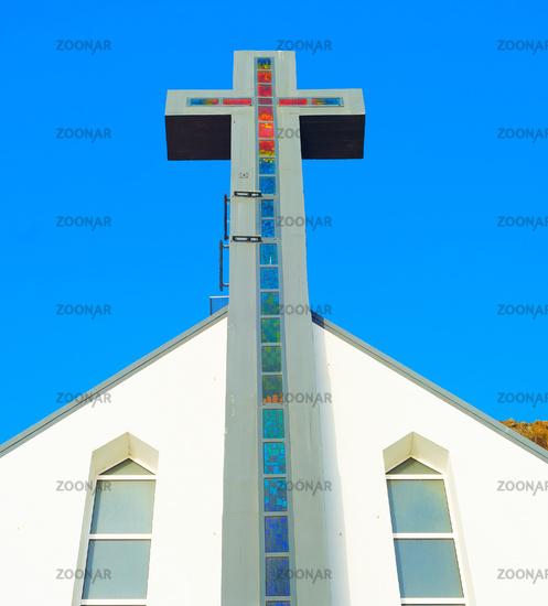 Parish church cross Madeira Portugal