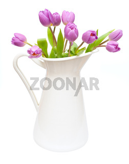 Tulips in Pitcher