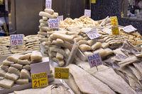 Barcelona. Catalonia. Spain. The Mercat de Sant Josep de la Boqueria. Fishmonger