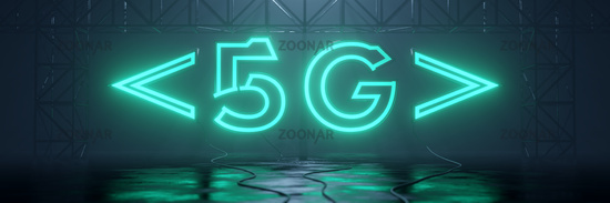 glowing neon tube sign 5G