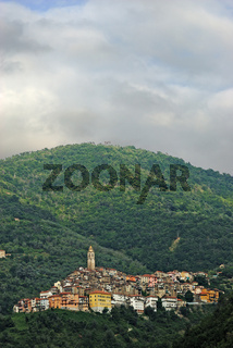Small town Castel Vittorio. Liguria. Italy