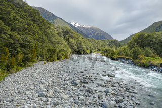 Bealey River in New Zealand