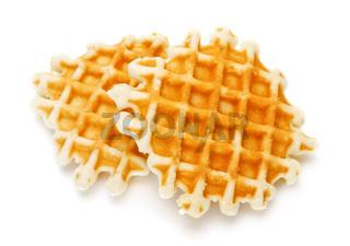 two crisp waffles