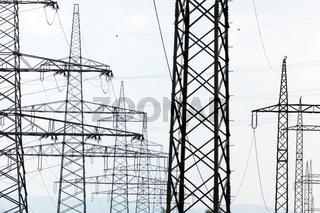 Strommast einer Stromleitung